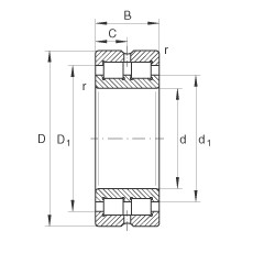 200 mm x 280 mm x 80 mm  INA SL014940 cylindrical roller bearings