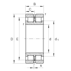 200 mm x 280 mm x 80 mm  INA SL024940 cylindrical roller bearings
