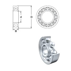 75 mm x 190 mm x 45 mm  ZEN 6415 deep groove ball bearings