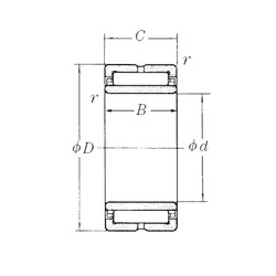 200 mm x 280 mm x 80 mm  NSK NA4940 needle roller bearings