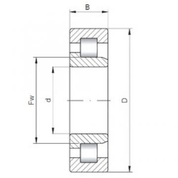 400 mm x 600 mm x 90 mm  ISO NJ1080 cylindrical roller bearings