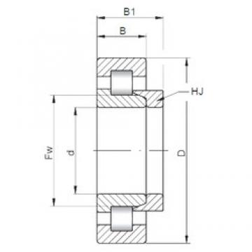75 mm x 190 mm x 45 mm  ISO NH415 cylindrical roller bearings